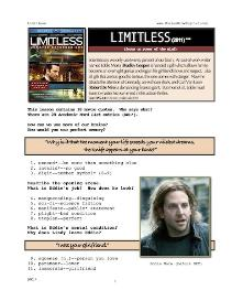 limitless, whole-movie english (esl) lesson