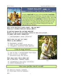 nim's island, whole-movie english (esl) lesson