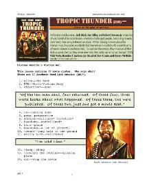 tropic thunder, whole-movie english (esl) lesson