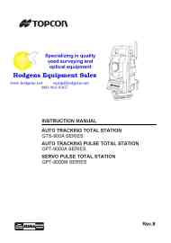 topcon gpt-9000a instruction manual and specs