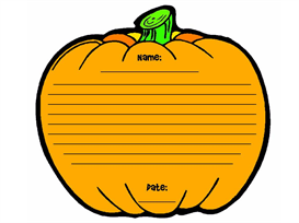 pumpkin patch stationery set