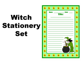 witch stationery set