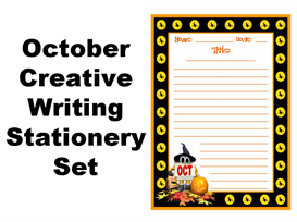 october creative writing stationery set