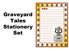 graveyard tales stationery set