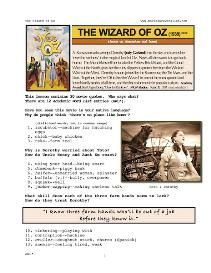 the wizard of oz, whole-movie english (esl) lesson