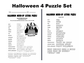 halloween 4 puzzle set