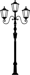 lamppost - machine embroidery and electronic cutting file.