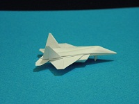 origami dollar f-22 w/ landing gears tutorial video