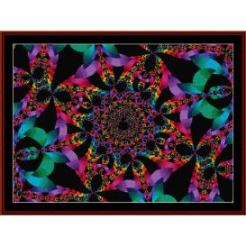 fractal 325 cross stitch pattern by cross stitch collectibles