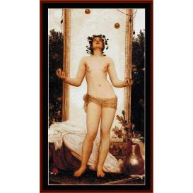 antique juggling girl - leighton cross stitch pattern by cross stitch collectibles
