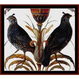 california quail - wildlife cross stitch pattern by cross stitch collectibles