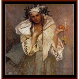 Christmas in America - Mucha cross stitch pattern by Cross Stitch Collectibles | Crafting | Cross-Stitch | Wall Hangings