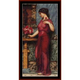 Offering to Venus - Godward cross stitch pattern by Cross Stitch Collectibles | Crafting | Cross-Stitch | Wall Hangings