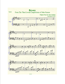 bryony sheet music in b major