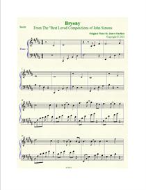 bryony sheet music in b major