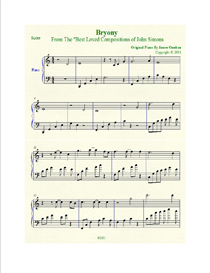 Bryony Sheet Music in C Major | Music | Instrumental