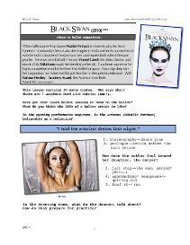 BLACK SWAN, Whole-Movie English (ESL) Lesson | eBooks | Education