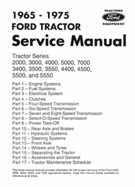 ford 2000 3000 4000 5000 7000 tractor workshop manual