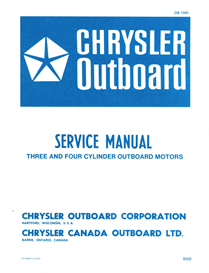 chrysler outboard service manual 70 - 75 - 85 - 90 - 105 120 - 130 -  135 - 150 hp