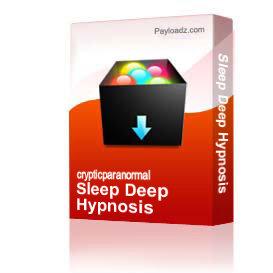 sleep deep hypnosis