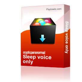sleep voice only