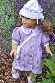 knittingdollpattern - 0065d carla -  dress, pant, socks/shoes and bag