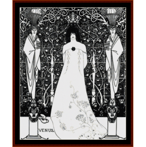 venus between terminal gods - beardsley cross stitch pattern by cross stitch collectibles