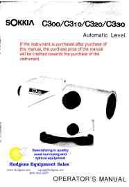 sokkia c30 series automatic level operator manual