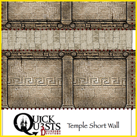 Quick Quests TEMPLE WALL SET 3D dungeon tiles and maps for Dungeons and Dragons, D&D, Gurps, and other RPG | Crafting | Paper Crafting | Other