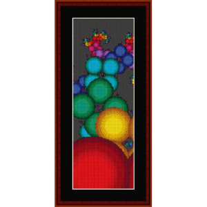 fractal 328 bookmark cross stitch pattern by cross stitch collectibles