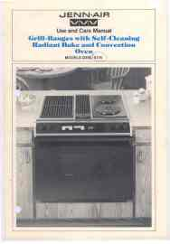 jennair s156 s176 oven use and care manual.