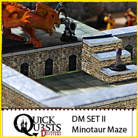 dungeon masters set ii - minotaur maze, for dungeons and dragons, d&d, gurps, warhammer, or other rpg role playing games