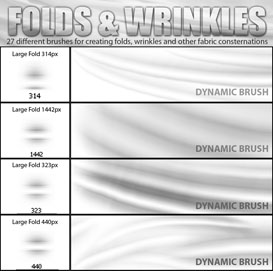 photoshop folds and wrinkles brushes