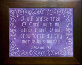 Icings - I Will Praise Thee | Crafting | Cross-Stitch | Religious