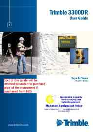 Trimble 3300DR/Zeiss Elta R50 User Guide | Documents and Forms | Manuals