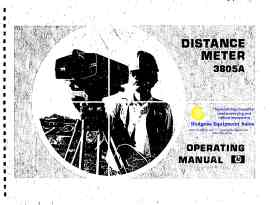 HP Distance Meter 3805A Operating Manual | Documents and Forms | Manuals