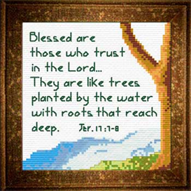 tree / water - jeremiah 17:7-8 chart