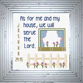 house / serve lord - joshua 24:15 chart