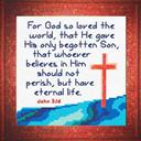 God so Loved - John 3:16 Chart   Crafting   Cross-Stitch   Religious