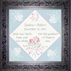 Wedding Anniversary Chart | Crafting | Cross-Stitch | Religious