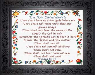 The Ten Commandments Crafting Cross Stitch Religious