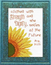 Strength Dignity - Proverbs 31:25 Chart | Crafting | Cross-Stitch | Religious