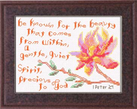 Beauty Within Chart - I Peter 3:4 | Crafting | Cross-Stitch | Other
