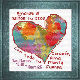 Amaras Dios Corazon | Crafting | Cross-Stitch | Religious