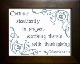 continue steadfastly - colossians 4:2