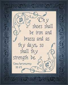 Thy Strength | Crafting | Cross-Stitch | Religious