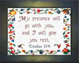 I Will Give You Rest | Crafting | Cross-Stitch | Religious
