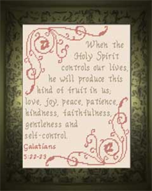 Produce Fruit - Galatians 5:22-23 | Crafting | Cross-Stitch | Religious