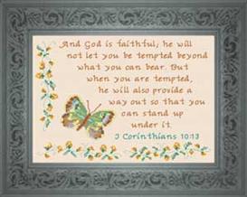 God is Faithful - I Corinthians 9:24 | Crafting | Cross-Stitch | Religious