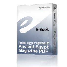ancient egypt magazine pdf issue 69